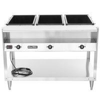 Vollrath 38117 ServeWell Electric Three Pan Hot Food Table 208/240V - Sealed Well