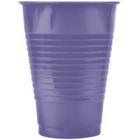 Creative Converting 28115071 12 oz. Purple Plastic Cup - 240/Case