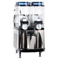 Bunn 34000.0081 Ultra-2 HP High Performance Black & Stainless Steel Slushy / Granita Frozen Drink Machine with 2 Hoppers - 120V