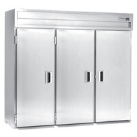 Delfield Stainless Steel SSRRI3-S 113.28 Cu. Ft. Three Section Solid Door Roll In Refrigerator - Specification Line