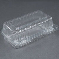 Durable Packaging PXT-395 Duralock 9 inch x 5 inch x 3 inch Clear Hinged Lid Plastic Container - 250 / Case