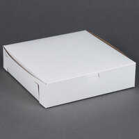 10 inch x 10 inch x 2 1/2 inch White Cake / Bakery Box - 10 / Bundle