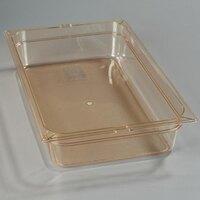 Carlisle 10401B13 Full Size 4 inch Deep High Heat Food Pan - Amber