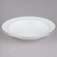 CAC GRY-3 Golden Royal 9 inch Bright White Porcelain Soup Plate - 24/Case