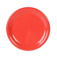 6 1/2 inch Orange Wide Rim Melamine Plate 12 / Pack