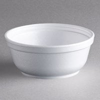 Dart Solo 8B20 8 oz. Insulated White Foam Bowl - 50/Pack