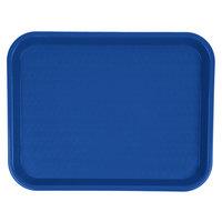 Carlisle CT101414 Cafe 10 inch x 14 inch Blue Standard Plastic Fast Food Tray
