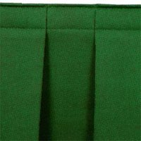 National Public Seating SB8 Green Box Stage Skirt for 8 inch Stage