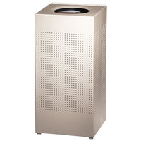 Rubbermaid SC14EPLDP Silhouettes Designer Desert Pearl Steel Waste Receptacle - 24 Gallon (FGSC14EPLDP)