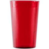 Cambro 950P2156 Colorware 9.8 oz. Ruby Red Plastic Tumbler - 24/Case