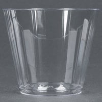 WNA Comet CC9240 Classicware 9 oz. Squat Clear Plastic Fluted Tumbler - 20/Pack