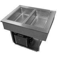 Delfield 8132-EF Two Pan Drop In LiquiTec Cooled Cold Food Well