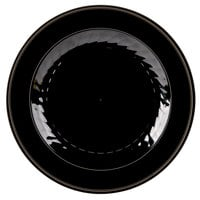WNA Comet MP10BKGLD 10 1/4 inch Black Masterpiece Plate with Gold Accent Bands - 12/Pack