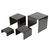 American Metalcraft BRS2 Set of Four Black Acrylic Riser