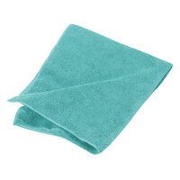 Carlisle 3633409 16 inch x 16 inch Green Terry Microfiber Cleaning Cloth - 12 / Pack