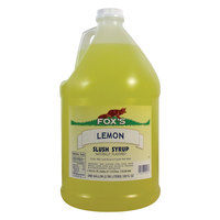 Fox's Lemon Slush Syrup - (4) 1 Gallon Containers / Case