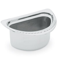 Vollrath 8230620 Miramar 2 Qt. Decorative Stainless Steel Half Oval Food Pan - 4 1/2 inch Deep