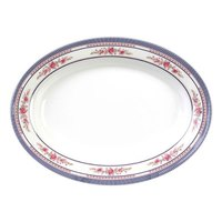 Rose 9 inch x 6 5/8 inch Oval Melamine Platter - 12 / Pack