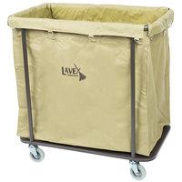 Lavex Lodging 14 Bushel Metal Frame Laundry / Trash Cart with Canvas Bag