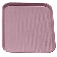 Blush Colored Cambro 1014FF409 10 inch x 14 inch Customizable Fast Food Tray 24/Case