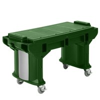 Cambro VBRTLHD6519 Green 6' Versa Work Table with Heavy Duty Casters - Low Height