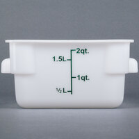 2 Qt. White Square Food Storage Container
