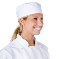 Chef Revival H002-XL 22 inch-23 1/2 inch White Extra Large Poly-Cotton Blend Pill Box Chef Hat