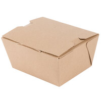 Microwavable Paper #1 Take Out Box 4 3/8 inch x 3 1/2 inch x 2 1/2 inch - 50 / Pack