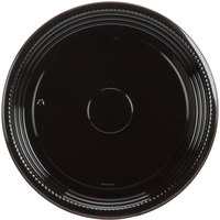 WNA Comet A512PBL Caterline Casuals 12 inch Round Catering Tray - Black 5 / Pack