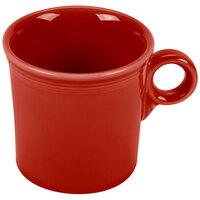 Homer Laughlin 453326 Fiesta Scarlet 10.25 oz. Mug - 12 / Case