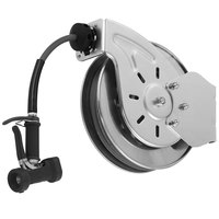 T&S B-7132-05 35' Open Stainless Steel Hose Reel with Front Trigger Water Gun
