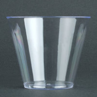 Fineline Savvi Serve 409-CL 9 oz. Squat Clear Hard Plastic Tumbler 500 / Case