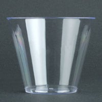 Fineline Savvi Serve 409-CL 9 oz. Squat Clear Hard Plastic Tumbler - 500/Case