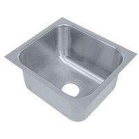 Advance Tabco 1620A-14A 1 Compartment Undermount Sink Bowl 16 inch x 20 inch x 14 inch