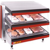 APW Wyott Racer DMXD-30H 30 inch Horizontal Countertop Double Shelf Merchandiser - 120V