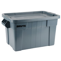 Rubbermaid 9S31 Gray Brute 20 Gallon NSF Tote with Lid (FG9S3100GRAY)