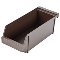 5 inch x 12 1/2 inch x 4 1/4 inch Self-Serve Brown Condiment Holder Bin