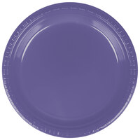 Creative Converting 28115021 9 inch Purple Plastic Dinner Plate - 240 / Case