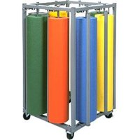 Bulman R995 36 inch Vertical 8 Roll Paper Rack