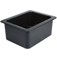 Cambro 26CF110 ColdFest 1/2 Size Black Food Pan - 6 inch Deep
