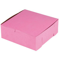 Southern Champion 837 8 inch x 8 inch x 3 inch Pink Cake / Bakery Box - 250/Bundle