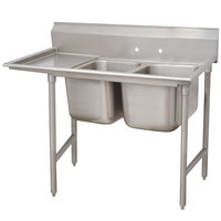 Advance Tabco 93-82-40-24 Regaline Two Compartment Stainless Steel Sink with One Drainboard - 72 inch