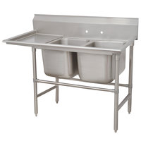 Advance Tabco 94-22-40-18 Spec Line Two Compartment Pot Sink with One Drainboard - 66 inch
