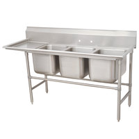 Advance Tabco 94-23-60-24 Spec Line Three Compartment Pot Sink with One Drainboard - 95 inch