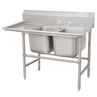 Advance Tabco 94-2-36-36 Spec Line Two Compartment Pot Sink with One Drainboard - 76 inch