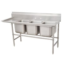 Advance Tabco 94-83-60-18 Spec Line Three Compartment Pot Sink with One Drainboard - 89 inch