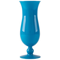 GET HUR-1-BL 15 oz. Blue Polycarbonate Hurricane Glass - 24/Case