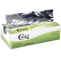 Choice Food Service 12 inch x 10 3/4 inch Interfolded Pop Up Foil Sheets - 500 Sheets / Box