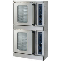 Alto-Shaam 2-ASC-2E/STK Platinum Series Stacked Half Size Electric Convection Oven with Manual Controls - 5,000 Watt