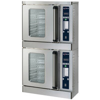 Alto-Shaam 2-ASC-2E/STK/E Platinum Series Stacked Half Size Electric Convection Oven with Electronic Controls - 5000W